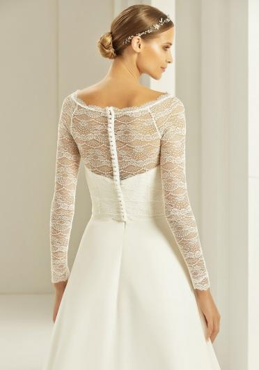 Bianco Evento Harmonia Long Sleeve Back View