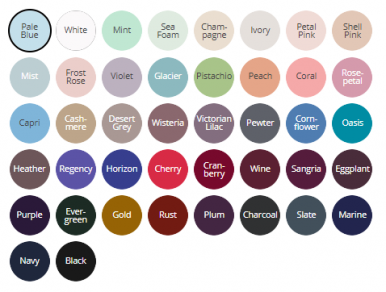 Colour Palette for Style 7100