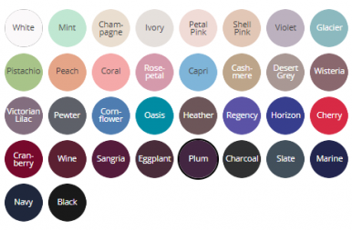 Colour Palette for Style 7002